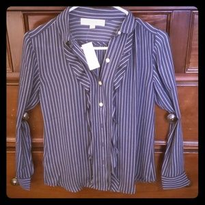 Loft button down dress shirt xsmall petite NWTS